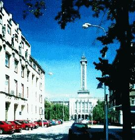 the Tower of New City Hall, the symbol of Ostrava
